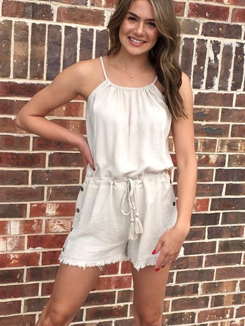 All Natural Romper-Women's -New Arrivals-Runway Seven - Women's Clothing Boutique