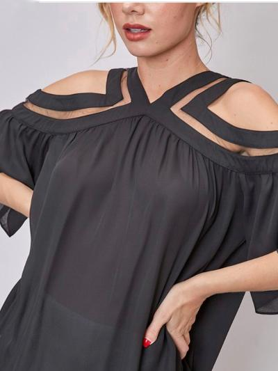 Not So Basic Black Top-Women's -New Arrivals-Runway Seven