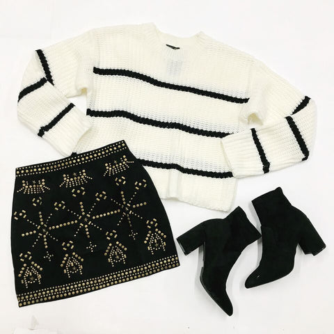 Be Merry Studded Skirt