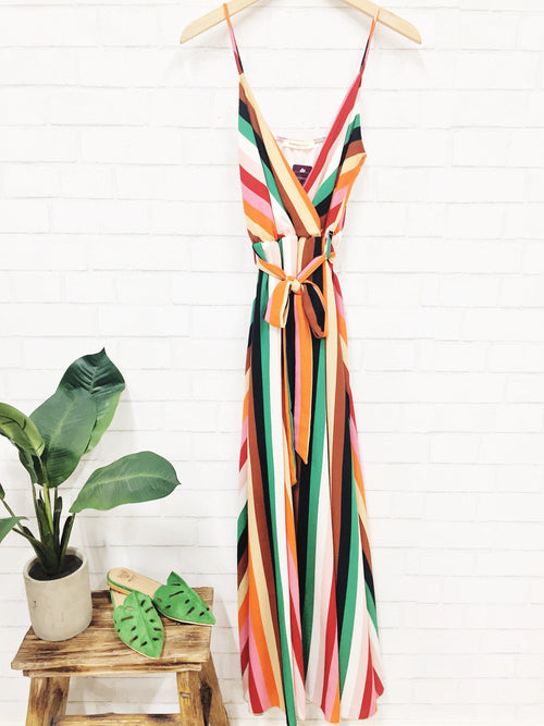 Wearing the Rainbow Maxi Dress-Women's DRESS-New Arrivals-Runway Seven