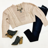 Make Me Blush Cropped Sweater