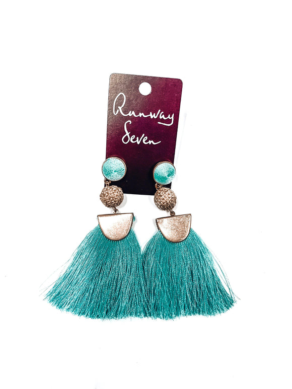 Havana Fringe Earrings-Women's JEWELRY-New Arrivals-Runway Seven