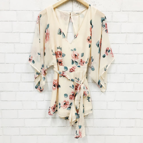 He Loves Me, He Loves Me Not Open-Back Romper