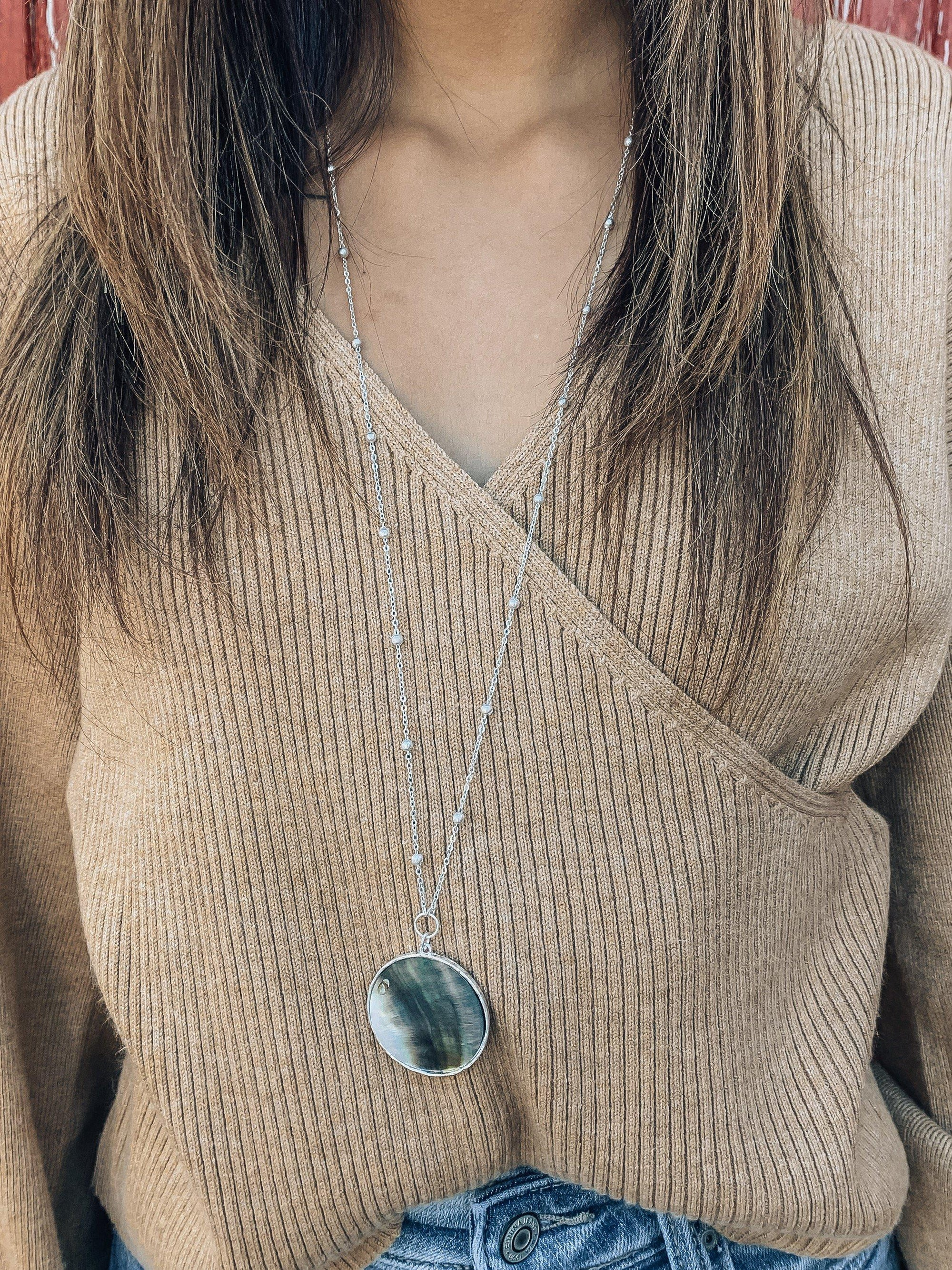 Ocean Eye Necklace-Women's JEWELRY-New Arrivals-Runway Seven