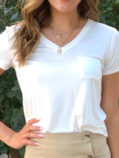 To a Tee Top - White-Women's -New Arrivals-Runway Seven