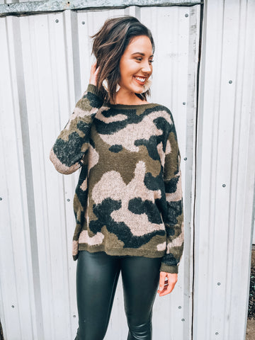 The Girl in the Camo Sweater