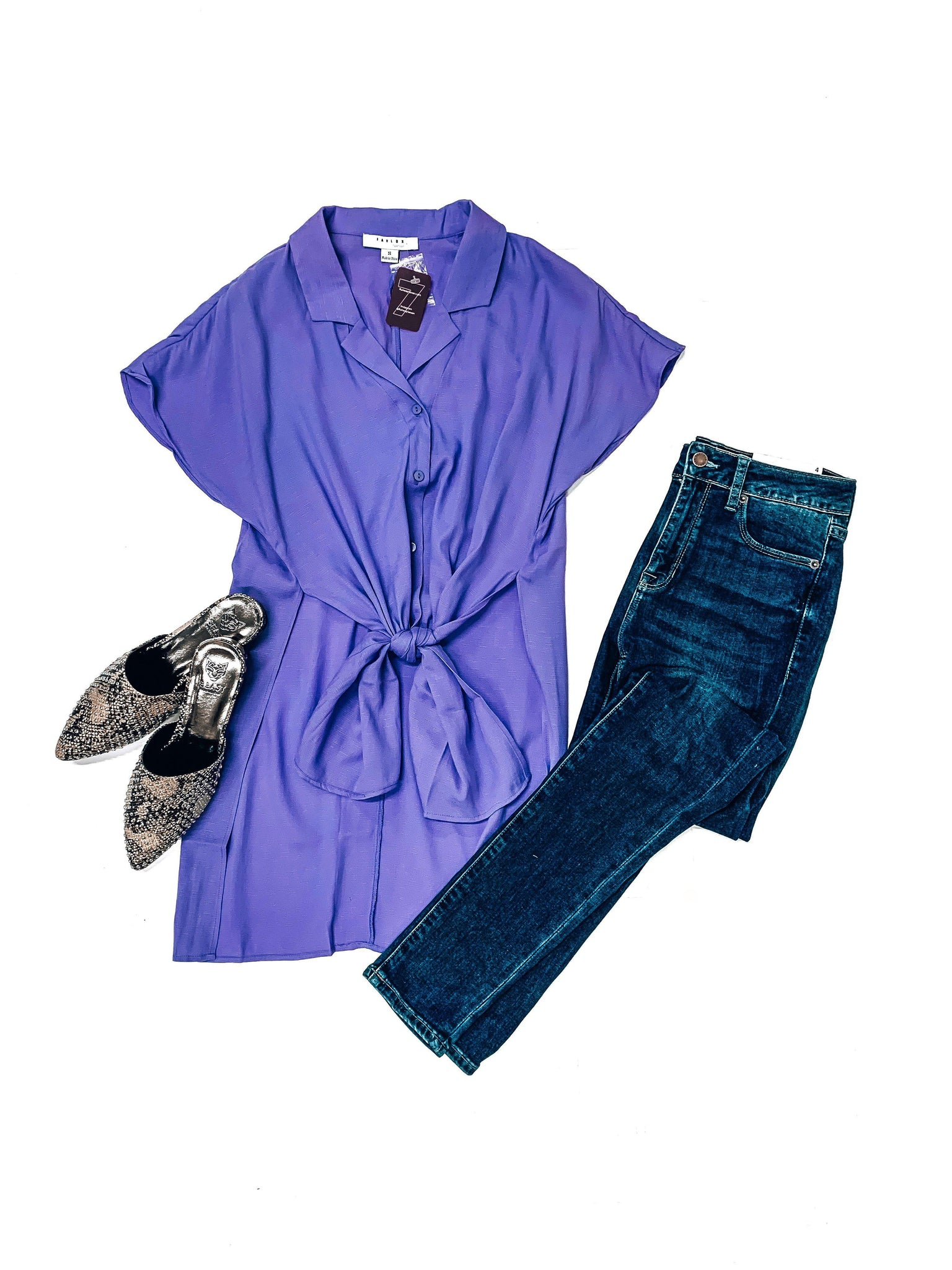 Spring Forward Top-Periwinkle