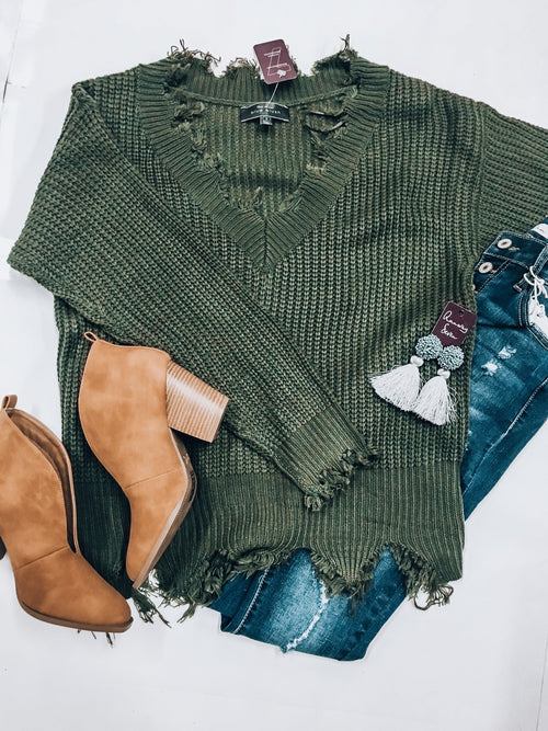 Mean Green Sweater-Women's Sweaters-New Arrivals-Runway Seven