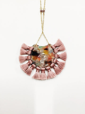 Pink Marble Necklace