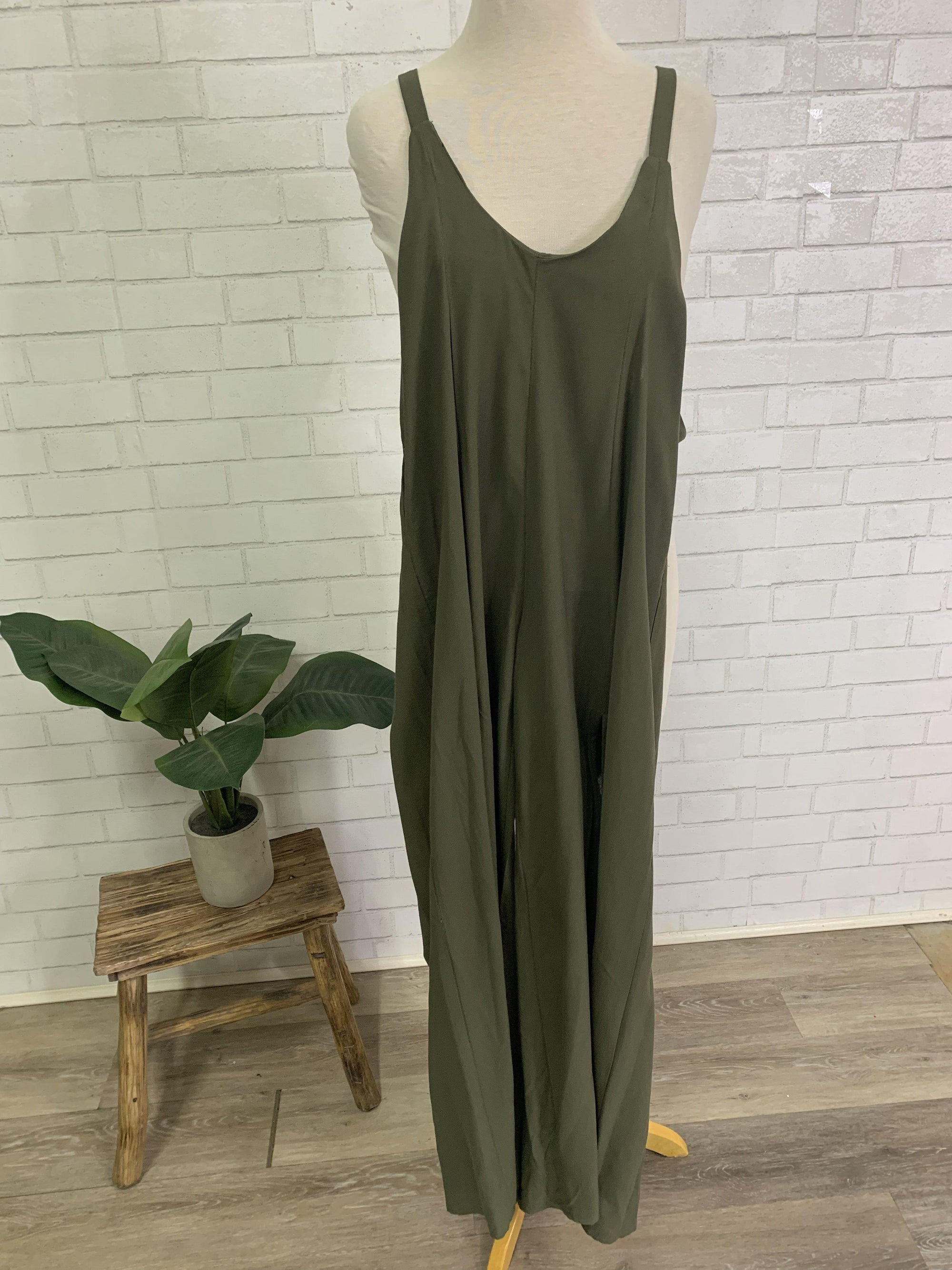 Olive Me Loves Olive You Jumpsuit-Women's SALE-New Arrivals-Runway Seven