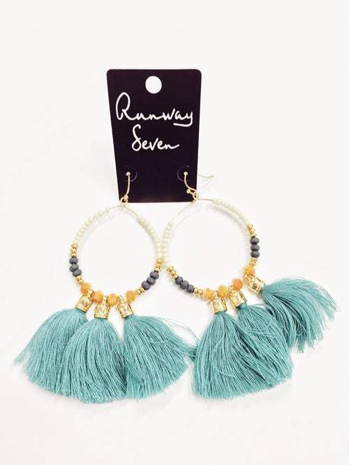 Teal Me You Love Me Earrings-Women's JEWELRY-New Arrivals-Runway Seven