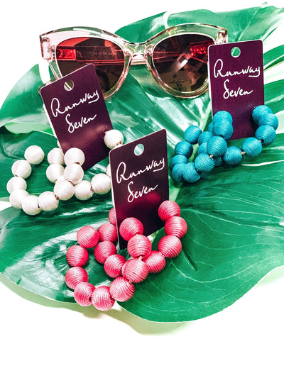 Ball Of Fun Earrings-Women's ACCESSORIES-New Arrivals-Runway Seven