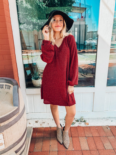 Home For The Holidays Dress-Burgundy-Women's DRESS-New Arrivals-Runway Seven