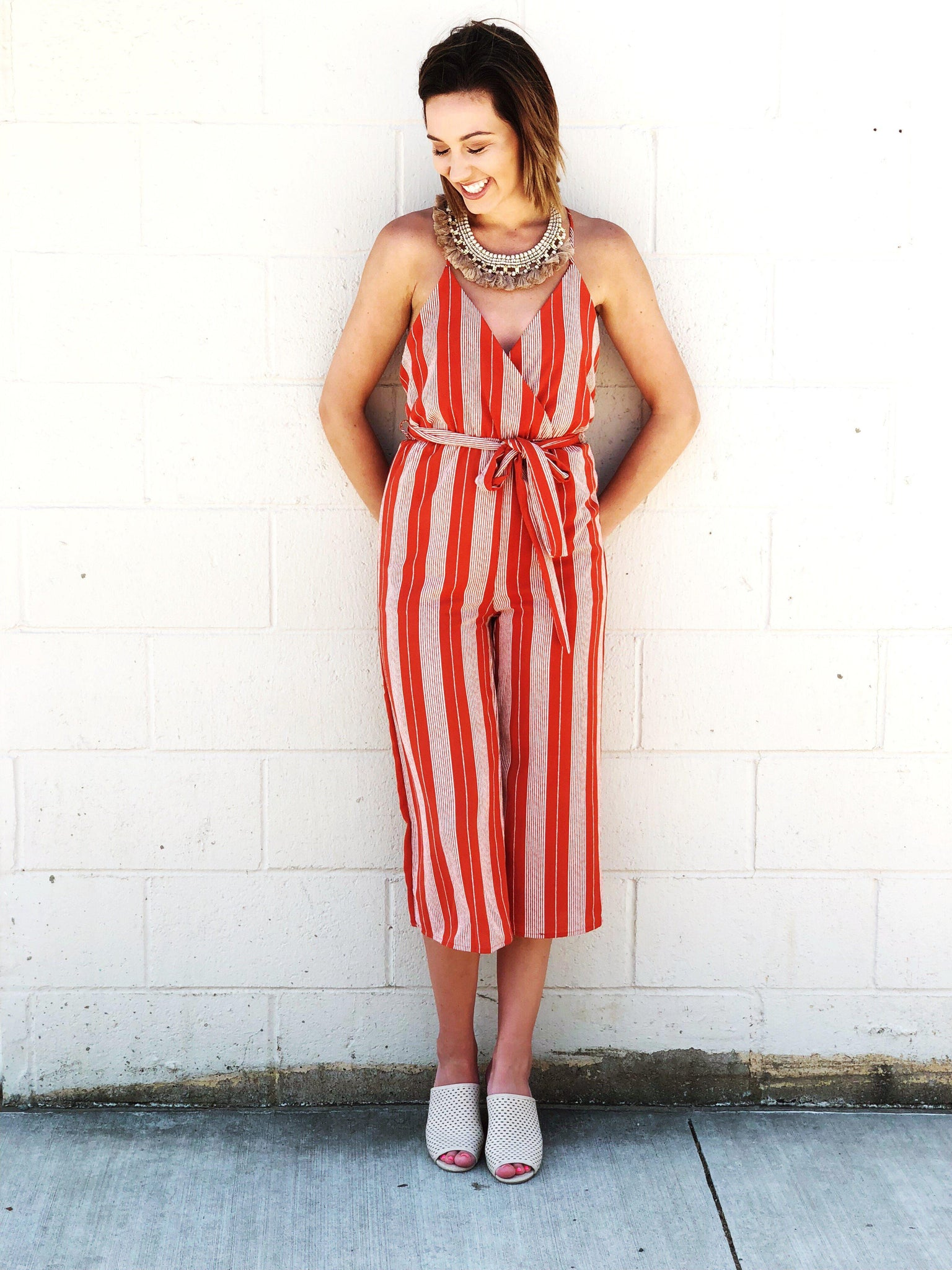 Magnolia Striped Jumpsuit