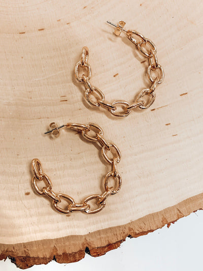 Break Chains Earrings-Gold-Women's ACCESSORIES-New Arrivals-Runway Seven