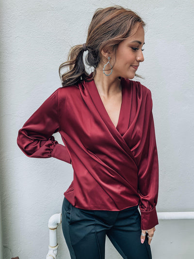 Heartless Surplice Top-Women's TOP-New Arrivals-Runway Seven