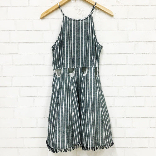 Online Exclusive: Round and Round Striped Dress-Women's DRESS-New Arrivals-Runway Seven
