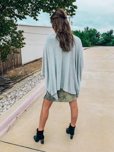Waffles And Honey Kimono-Grey-Women's SWEATER-New Arrivals-Runway Seven
