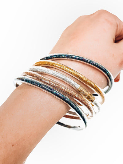Trendy Jelly Bangle Set-Black-Women's ACCESSORIES-New Arrivals-Runway Seven