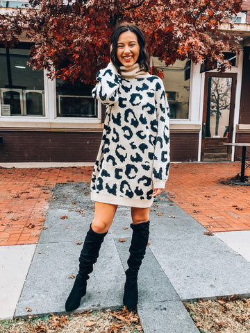 Amigas Cheetahs Sweater Dress