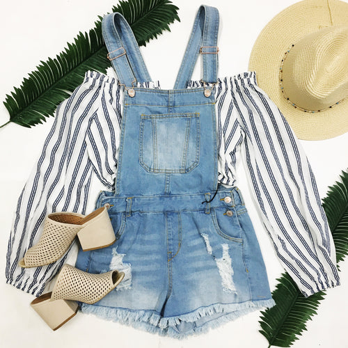 Sun Kissed Denim Overalls