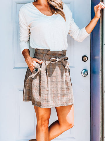 Tangled Up In Plaid Skirt
