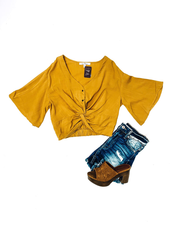 High Hopes Top- Mustard-Women's TOP-New Arrivals-Runway Seven