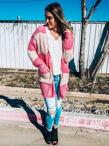 Peppermint Striped Cardigan