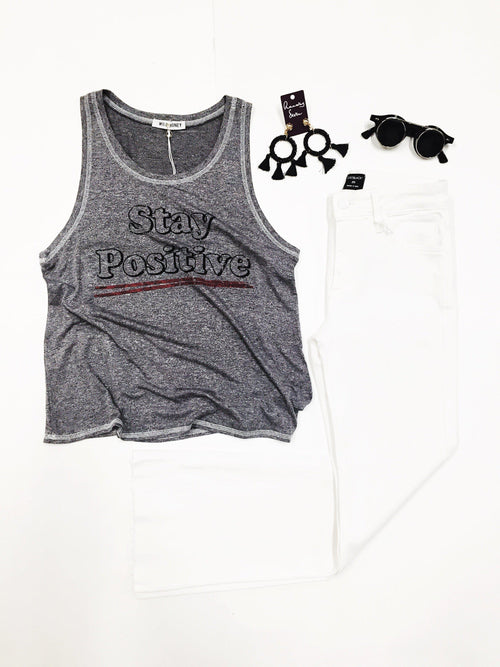 Stay Positive Graphic Top-Women's TOP-New Arrivals-Runway Seven