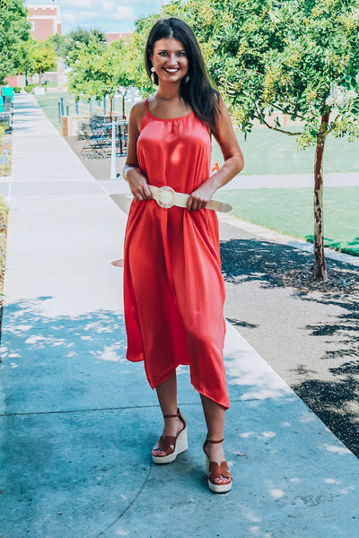 Travel Therapy Dress-Coral