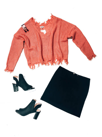 Coral Skies Sweater