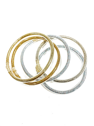 Trendy Jelly Bangle Set-Gold-Women's ACCESSORIES-New Arrivals-Runway Seven
