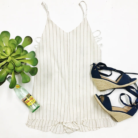 High Tide Open-Sides Romper
