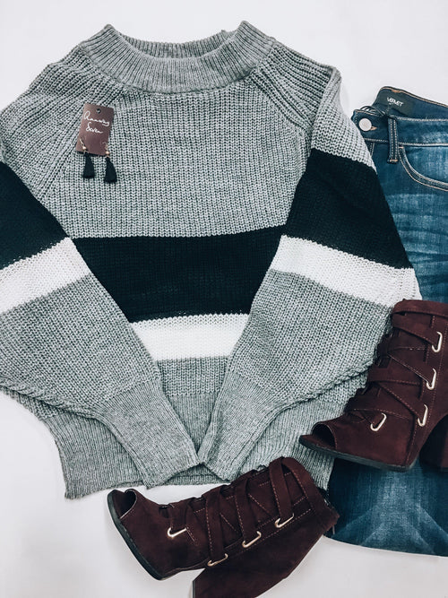 Rugby Stripe Sweater-Women's SWEATER-New Arrivals-Runway Seven
