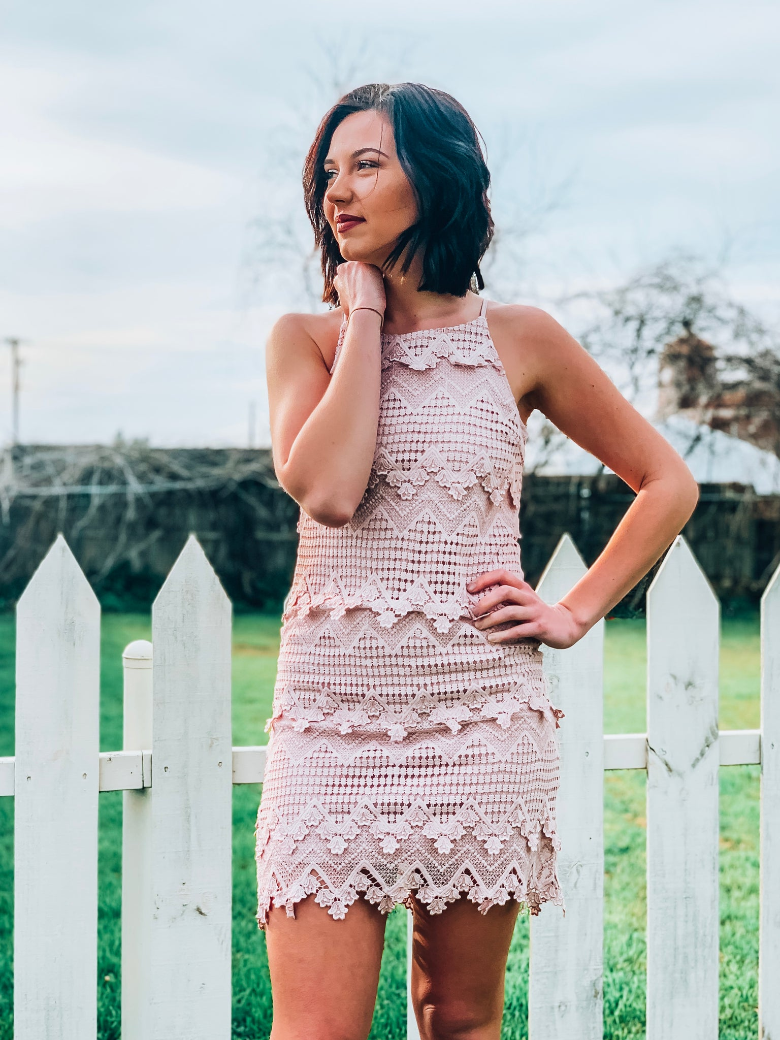 Melrose Crochet Dress