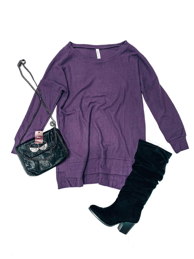 Jetsetter Top-Purple-Women's TOP-New Arrivals-Runway Seven