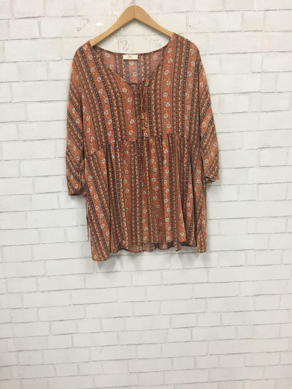Rusty Dusty Tunic Top-Women's SALE-New Arrivals-Runway Seven