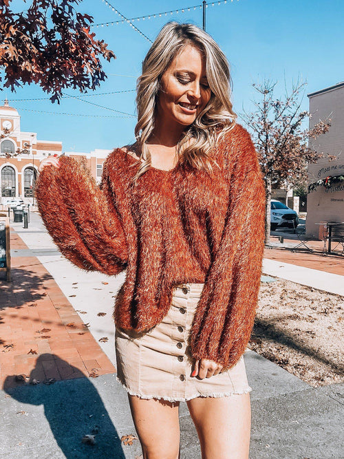 TGIF Fuzzy Top-Women's TOP-New Arrivals-Runway Seven