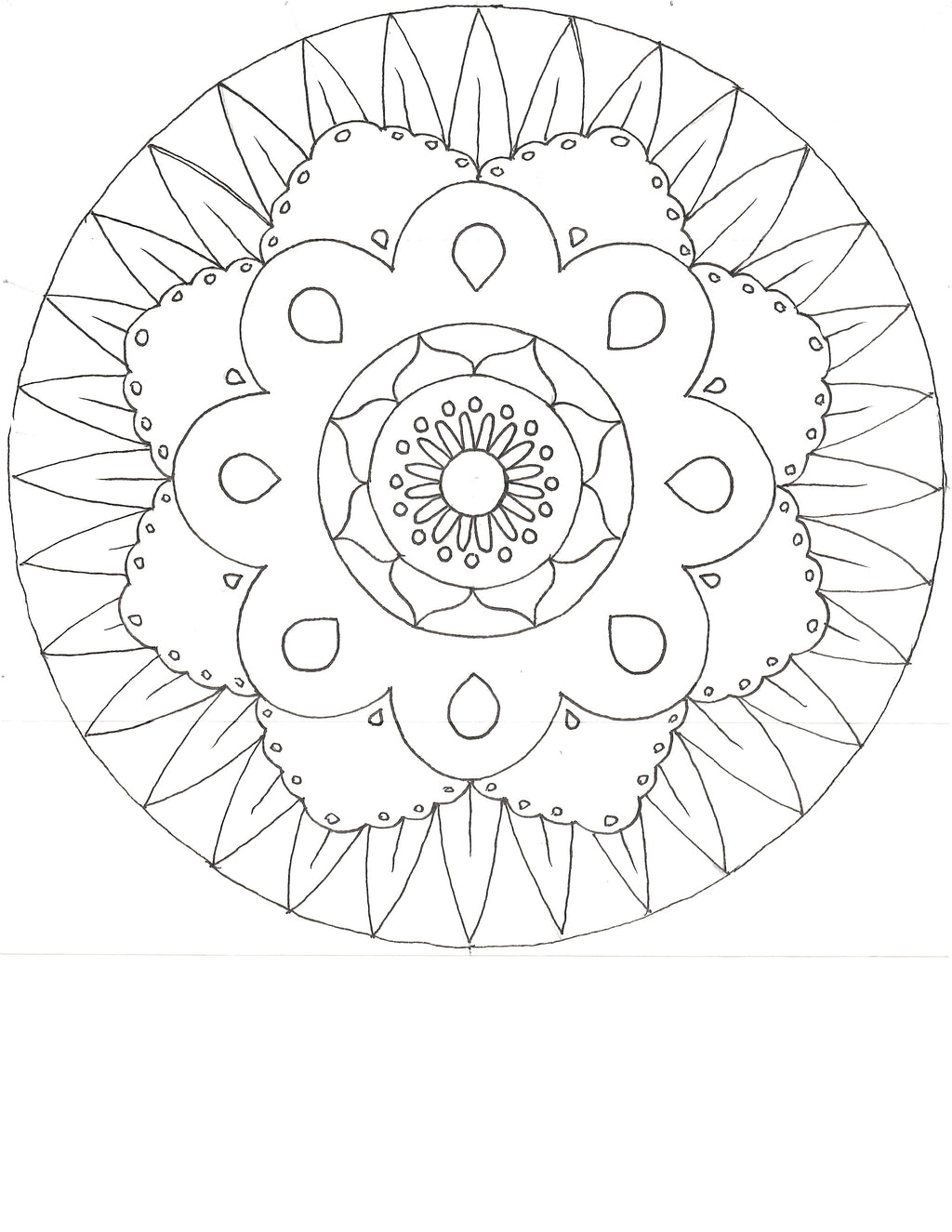 Mandala Paper Craft Coloring Outlines