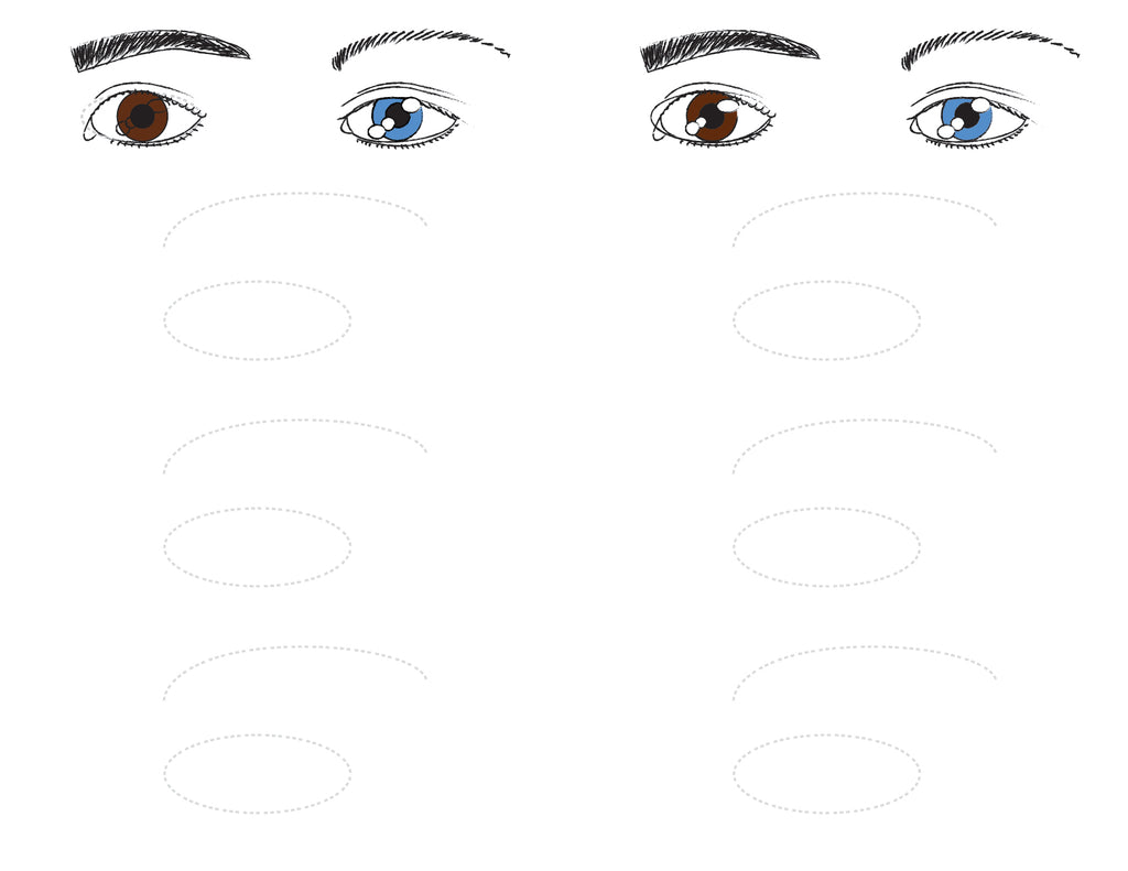 How to draw an eye. Practice Sheet.