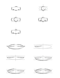 How to draw a nose and mouth. Guide.