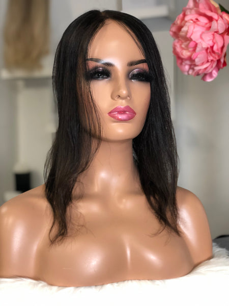 Topper Juanita - 5x5 inch Silk Base / 100 % / 16 inch / european hair