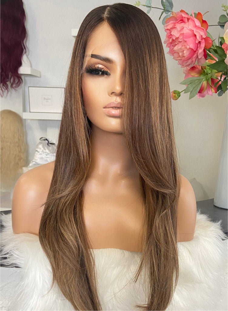 Alopecia Medical wigs full lace front lace human hair perruque cheveux naturels perucken