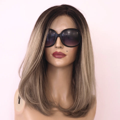 Mathilde - Front & Full lace / 14 inch / 150 % Volume / Médium / virgin Hair