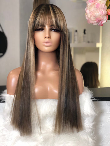 Abba - illusion Full lace + skin top   / 24 inch / 180 % Volume / Xs-small  / Virgin Hair