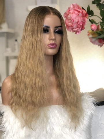 Alexy hair Full lace wigs blonde California  alopecia Brown medical perruque cheveux naturel medicale cancer genève suisse