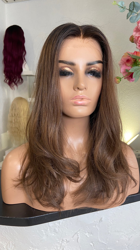 Maya - Glueless Full cap  / 20 inch / 150 % Volume / small / European Hair