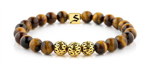 Premium Minimal Gold Tiger Eye