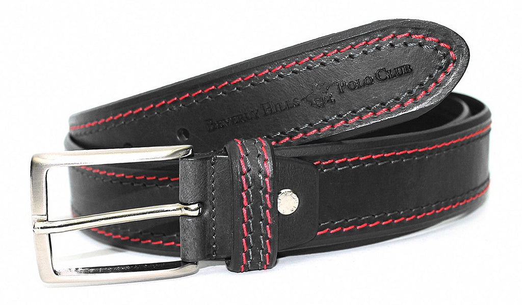 Illinois  Men's Leather Belt