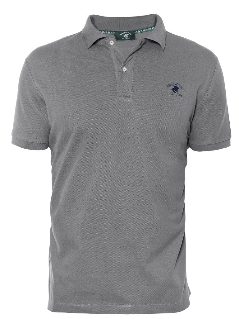 LUXURY PIQUÉ REGULAR FIT GREY POLO
